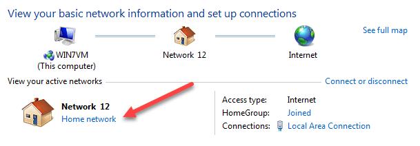 cách chuyển giữa public network sang private network trên windows 7